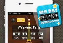 """Big Days Countdown / Big Days of Our Lives Countdown Clock"""" is an amazing simple way to countdown how many days until, how many hours, minutes, and seconds of a wonderful day such as, wedding day, anniversary, new year, coming holiday, trip, concert, pregnancy, current events, upcoming events and all the big days in your life!"""