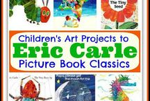 Great  Children's Books / Eric Carle is an amazing brilliant author for children's books.  I used his books quite frequently with the children I worked with.  He wrote The Very Hungry Catapillar which I am sure most of you have heard of.   He gets children's imaginations flowing.    I just love his books and inspiration for creativity