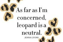 My Style - Leopard Love / My love for the leopard spot and cheetah print