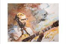 """aquarelles jazz / aquarelles jazz -aquarelles réalisées en """"live"""" pendant les concerts de jazz."""