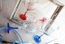 Home, gifts, wedding...  / Colección de diseño en cristal pintado a mano. Personalizable.  Se puede lavar a mano y a máquina. Solicita tu encargo y catálogo en: unycgd@gmail.com