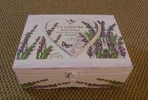 Lavender decoupage - my work / Lenka Opletalová www.kouzlodomova.webnode.cz