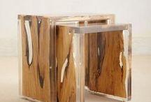 Reclaimed Wood / Wyposażenie wnętrz z odzyskanego drewna, stoły, ściany