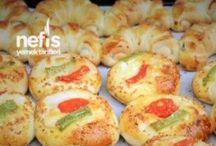 Tuzlu pasta-poğaça-savory pastries / by Leyla Seyhan