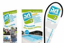 Art'Piscine by Jean Sanchez /  Art' Piscine est société une établie à Béziers (34) spécialiste de la pose de piscine et de Spa. Afin de relooker son image et fidéliser ses clients, Art'Piscine a fait appel à notre savoir faire en nous confiant l'ensemble de sa communication. Logo, site internet, flyers, papèterie, tout a été refondu pour offrir une nouvelle image fidèle à sa personnalité.  Visitez le site internet d'Art piscine, spécialiste en vente et pose de piscines en coque polyester