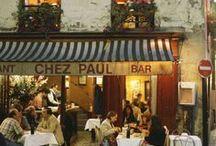 Cafés in Paris and other places