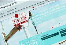 Team Interim / Conception / réalisation du site internet Team Interim en responsive webdesign.
