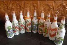 Decoupage bottles / my work - www.kouzlodomova3.webnode.cz