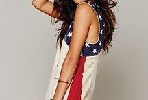 b o r n i n t h e U.S.A / American clothes flag women