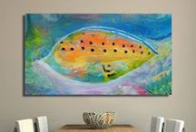 my art in interior / Please visit my website www.artbyildy.com. Most of my paintings are in private collections, but you may commission similar painting by contacting me.