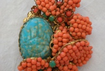 Vintage/antique CORAL jewelry