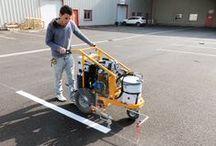 Paint Liner / Appareils de traçage peinture pour le marquage au sol.