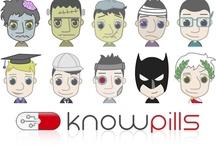 """Conócenos / Te invitamos a que conozcas nuestra  aplicación Web: www.knowpills.com, la revolución e-learning en formato """"píldoras de conocimiento""""."""