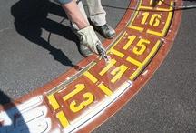 Pochoirs à peinture / Pochoirs de signalisation pour le marquage au sol