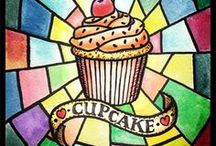 cupcakes and stuff!!!!!!!!!!! / all kinds of yammy food!