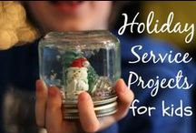 Holiday Service Projects and Acts of Kindness / Ideas for service projects and acts of kindness around the holiday time.