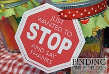 Serve By Thanking / Thanking someone is a powerful way to teach children to serve.  Crafty and simple ideas to brighten someone's day by saying thank you.  Teach children to serve.