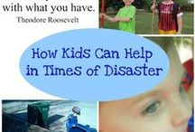 Helping in Times of Disaster / Ideas to help support those affected by crisis or disaster.  Crafts for kids to complete a service project.  Acts of kindness.  Teaching children to serve.