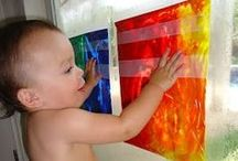 Activities for Toddlers / Fun things to do at home to keep little ones entertained.