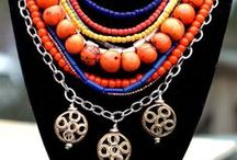 Moroccan Jewelry / Make a Moroccan statement with my exotic and unique Moroccan jewelry collection including bold and ethnic statement necklaces, vivid, mixed-media bracelets and funky dangle earrings. My Moroccan jewelry collection features big and bold design elements, chunky oranges and blues, ornate African brass, shiny silver, coptic crosses and dangly earrings. Check out my website at www.xogallery.com to place an order or contact me at kelly@xogallery.com