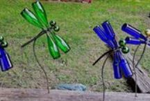 Garrafa / Criações com pet e garrafas de vidro em geral.