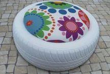 REUTILIZANDO PNEUS. / As muitas formas de reutilizar pneus, p/não descartar no Meio Ambiente!!