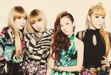 2NE1 (☆^O^☆) / consisting of Park Bom, Manzy, Dara, and CL :D debuted in 2009 / by You Got No Jams <( ̄︶ ̄)>
