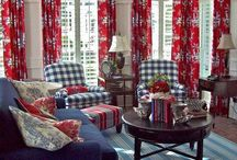 Blue and Red Home / Who wouldn't love to have a little cottage decorated in red, blue and white.  Warm, happy colors. / by Barb Palmieri