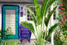 Key West Florida Style / Colorful and eclectic and maybe a little kitschy. / by Barb Palmieri