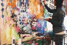 Alisa Burke / Billeder, akvarel, kunstner.