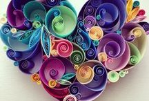 papier, quilling a origami