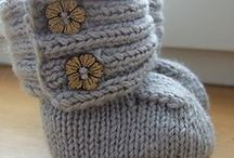baby knit booties / by holly lock