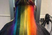 Tineyhair.dk / Hair, hår, farver, klip, rainbow, Faded,