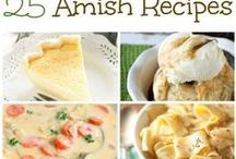"""Authentic Traditional Amish Recipes / Amish cuisine represents agrarian Dutch and Germans traditions. It is characterized by """"home-grown"""", low-processed food and """"home-made"""" meals. It's based on potatoes, beets, beans, variety of fresh veggies and fruits, meat (pork, chicken, beef), dairy products.  Try Schnitz Pie (apple cake), Gruumbier Suupe (potato soup), Duck un Kraut (roasted duck with sauerkraut and mashed potatoes), Hog Maw (cooked, than baked stuffed pig's stomach), Schnitzel beans (string beans with bacon, onion, tomato)"""