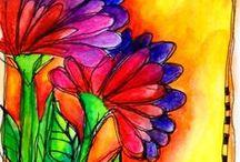 Desenho e aquarela / Minha paixão!