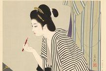 浮世絵、日本画 / 好きな絵師 鳥文斎栄之、上村松園、中村大三郎、志村立美、他