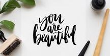 CRAFTS: Lettering / #lettering #calligraphy #brushlettering #brushpens