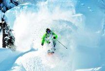skiing and snowboard / skiing universe