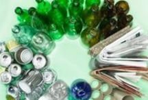 Recycle, Reuse & Repurpose / Stay green and clean by separating your plastic and glass recyclables.