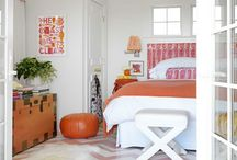 Her Orange Rooms & Decor / Using orange furnishings and furniture can often take a bit of courage for some people. However used properly, orange can be a powerful decorating colour. Here are some ideas to help you see how to use it effectively.Need help with your room project? I can help. http://carmendarwin.com Carmen Darwin
