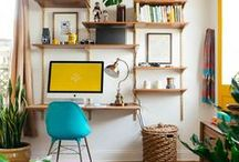 Her Workspace Storage & Organisation / Home office organisation and storage ideas are more important now than ever. With so many people working from home our home office needs to stay organized and built-in storage is the key.
