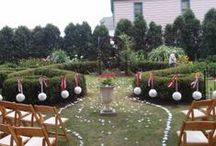 July Wedding at The Merrick (50's theme) / The Merrick offers rentals of the rooms and lawn for weddings (ceremony and/or reception), showers, rehearsal dinners, corporate dinners and more.