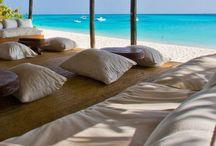 Beaches of Zanzibar / Soft white sandy beaches of Zanzibar.