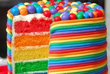 Rainbow Cakes / Rainbow cakes are becoming popular for celebration cakes as people not only want the sponge to be rainbow, but the decoration too! Many items to recreate these ideas can be found in our online shop here http://www.sweetsuccess.uk.com/Home.asp