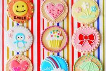 Iced Biscuits / Iced cookies and biscuits are perfect for dessert tables and parties as they can be customised to suit any theme. Many items to recreate these ideas can be found in our online shop here http://www.sweetsuccess.uk.com/Home.asp