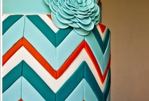 Chevron Cakes / The Chevron pattern remains on trend as a new pattern which is proving popular with modern brides wanting a more geometric cake. Many items to recreate these ideas can be found in our online shop here http://www.sweetsuccess.uk.com/Home.asp