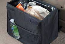 Car Trash Bags, Bins and Baskets / An assortment of car litter bags and baskets in sizes and styles for every area of the car, featuring no-leak liners and tip-resistant constructions.