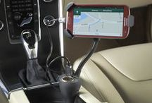 Car Phone Holders and Chargers / Car cell phone, smartphone, GPS and iPhone holders and chargers for convenient, hands free driving.