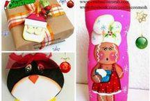 Manualidades navideñas / Ideas y paso a paso para hacer adornos y muñecos navideños http://www.cosascositasycosotasconmesh.com/search/label/Manualidades%20para%20Navidad