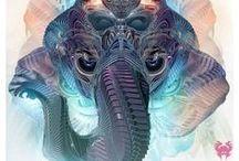 amazing art / #psyart #acid_art #trippy_art #visionary_art